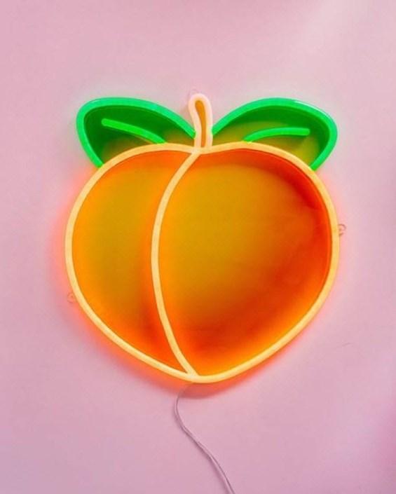 Barack - LED Neon dekoráció nyomtatott plexi háttérrel