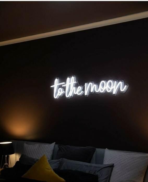 to the moon - LED Neon felirat