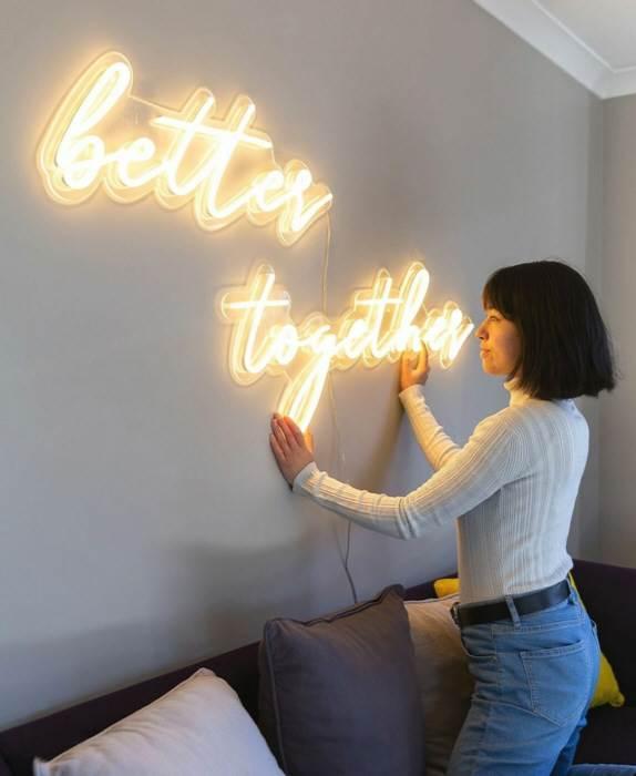 better together - LED Neon felirat otthonra