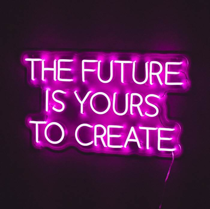 The Future is Yours to Create LED neon felirat