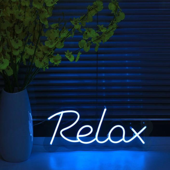 Relax Neon felirat otthonra