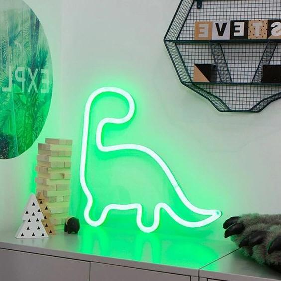 Dínó Neon dekoráció otthonra
